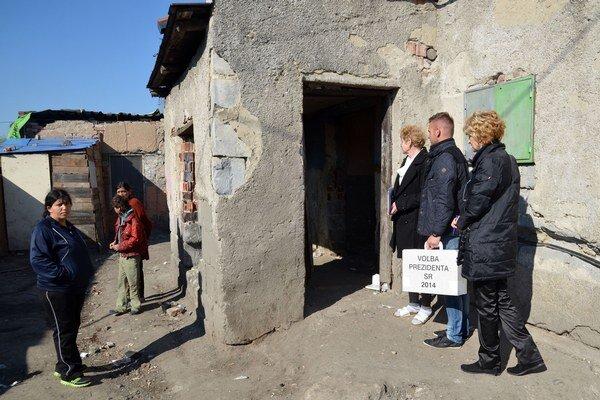 Voľby v trebišovskej osade.