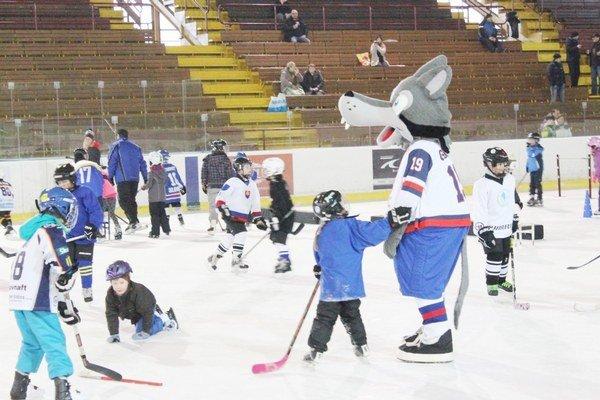 Deti na ľade. Najmladší korčuliar mal tri roky, najstarší desať.