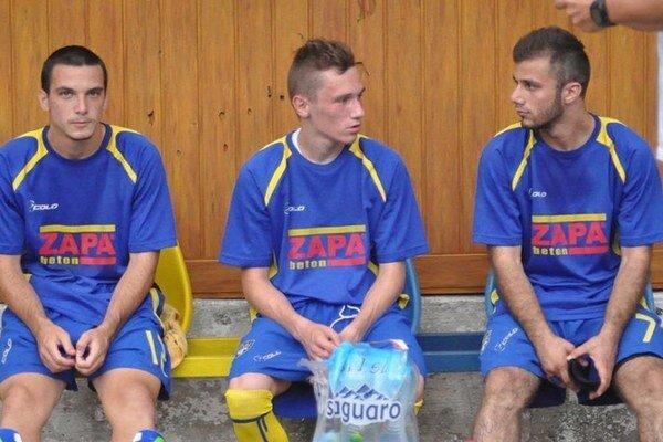 Trojica nových tvárí. Zľava N. Gľuškov, S. Stefanovič, R. Mikailov.