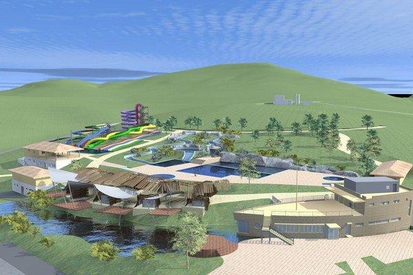 Vizualizácia budúceho akvaparku.