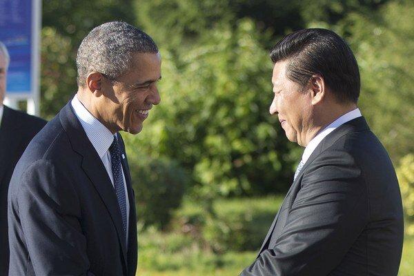 Barack Obama a president Číny Xi Jinping.
