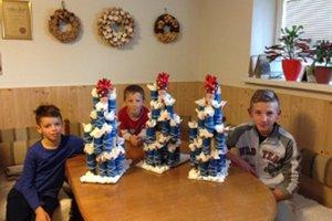 Vnúčatá Blahovcov potešili kalendáre z roliek toaletného papiera.