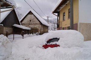 Rejdová počas zimy. Snehová kalamita odrezala Rejdovú od sveta.