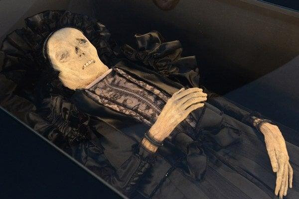 Na snímke múmia barónky Žofie Serédyovej.