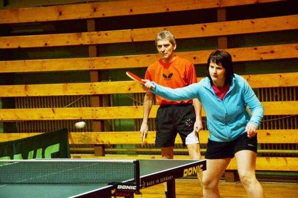 Úspešná štvorhra. Dvojica O. Tomášik a A. Čišková vyhrali zo siedmich štvorhier v šiestich prípadoch.
