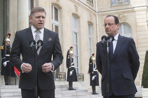 Slovenský premiér s francúzskym prezidentom.
