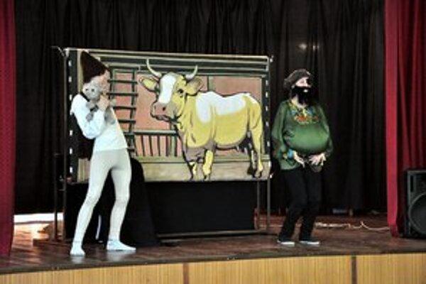 Program. Rozprávka Jack a fazuľka v podaní divadla bez opony.