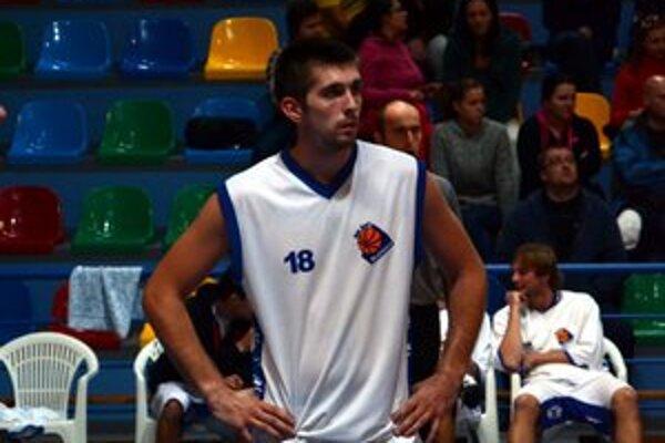 Basketbalista Peter Kiss ešte ako hráč ŠPD Rožňava.
