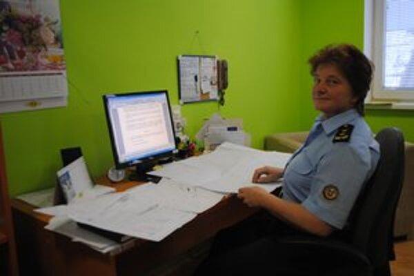 Iveta Šafárová u hasičov pracuje už dvadsať rokov, je nadmieru spokojná
