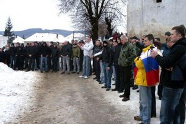 Sympatizanti Slovenskej pospolitosti v Jelšave.
