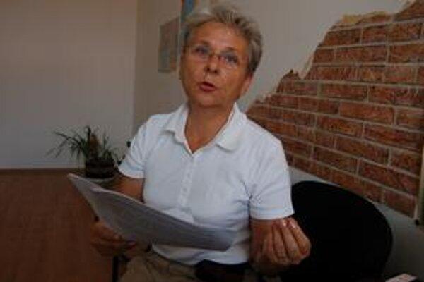 Jarmila Vajdová. Okresná predsedníčka SaS hovorí, že problémy okresu sa musia riešiť spoločne.