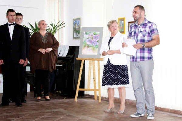 Anna Munia uviedla v stredu svoju výstavu v Bardejove.