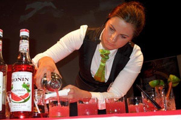 Katarína Ďurejeová reprezentovala prievidzskú hotelovú akadémiu.