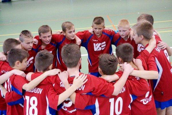Mladí futbalisti. Výber bardejovských žiakov v kategórii U12.