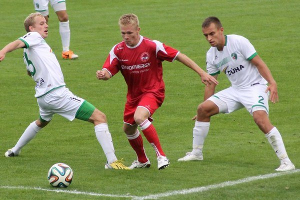 Michal Grohoľ. V derby s Tatranom Prešov.