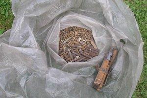 Nájdené náboje z Poliakoviec.