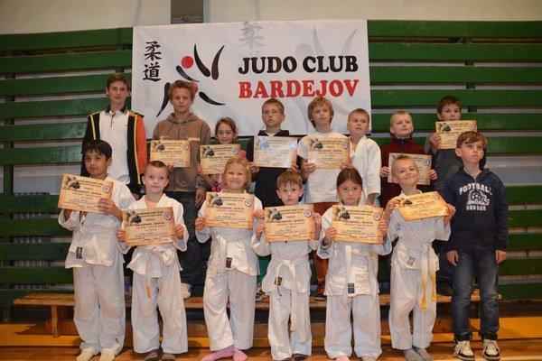 Pätnásť diplomov pre mládež Judo Club Bardejov.