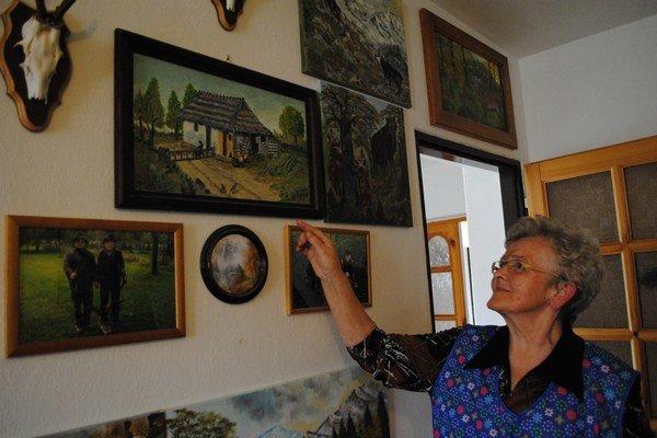 Magda Bukovčíková. Dôchodkyňa maľuje už desaťročia. Obraz rodného domu bol prvý.