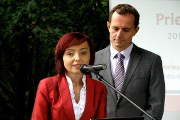 Katarínu Macháčkovú prišiel do Prievidze podporiť Radoslav Procházka.