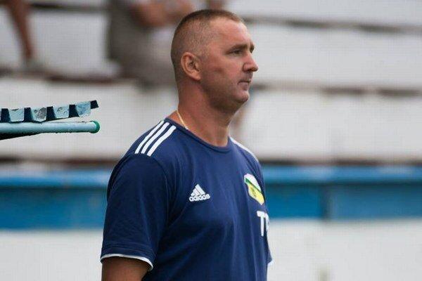 František Hanc. Sninský tréner žiaril spokojnosťou.