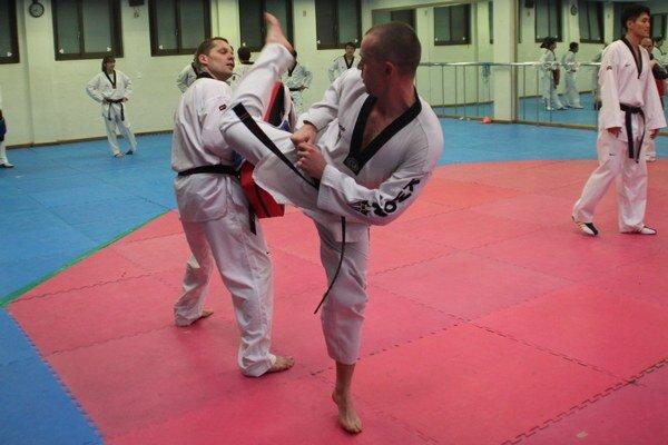Tomáš Potocký počas tréningu.
