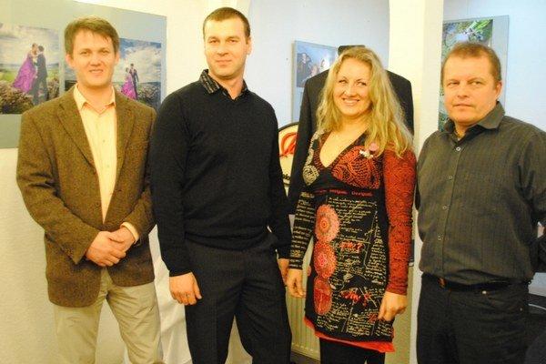 Autori (zľava) Michal Čekan, Pavol Ivanko, Jana Andoga, Peter Filakovský.