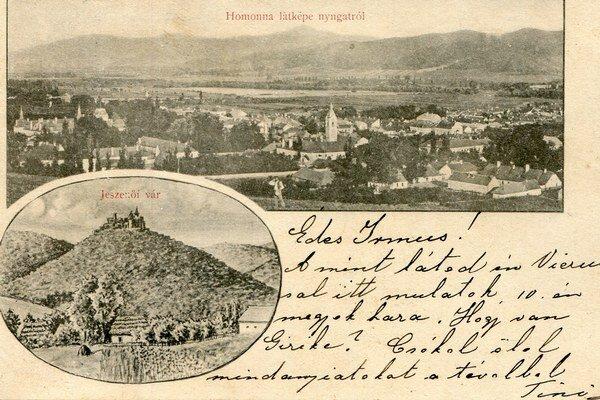 Panoráma Humenného s Jasenovským hradom.
