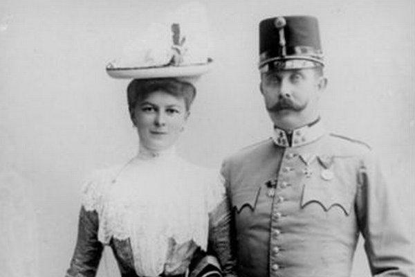 František Ferdinand d'Este s manželkou Žofiou.