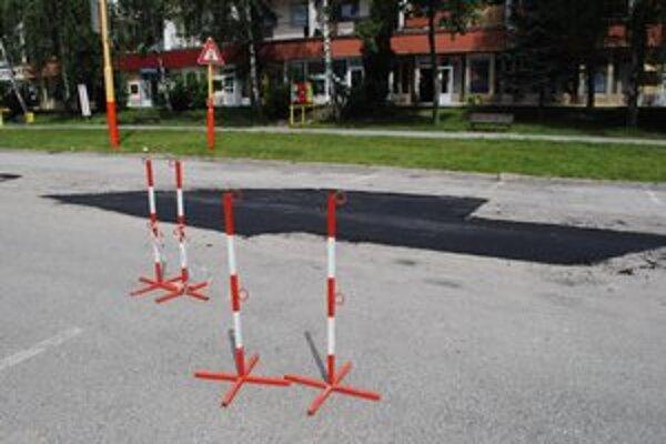 Parkovisko na Mierovej. Opravili ho pred cyklistickými pretekmi.