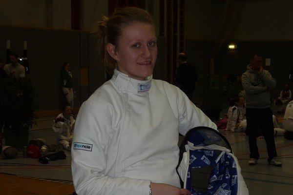 Katka Hunčárová. Najúspešnejšia sninská šermiarka uplynulej sezóny.