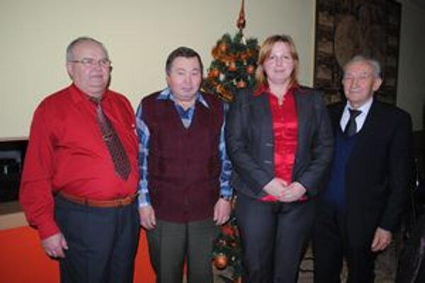 Predsedovia Jozef Trecák, Ľuboslav Hrehor, Stanislava Tkáčiková a Juraj Hreňovčík.