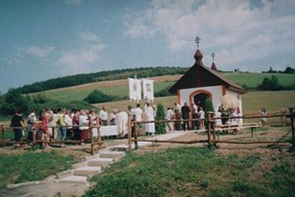 Kaplnka medzi Haburou a Čertižným. Slávnostná vysviacka sa konala 26. augusta.