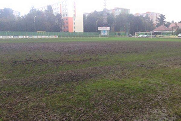 Trávnik na prievidzskom štadióne po majstrovstvách Slovenska v ultimate frisbee.
