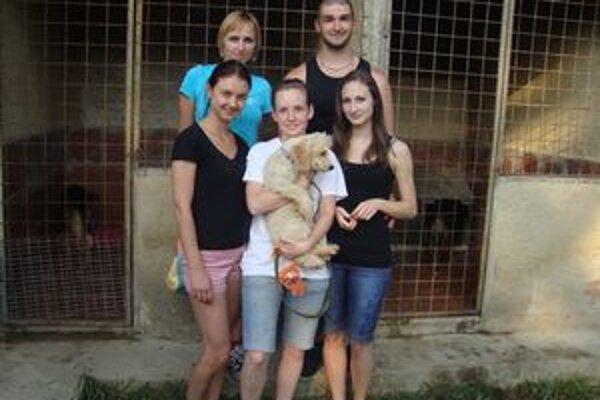 Brigáda v karanténnej stanici v Strážskom. Dobrovoľníci pomáhali skultúrniť prostredie.