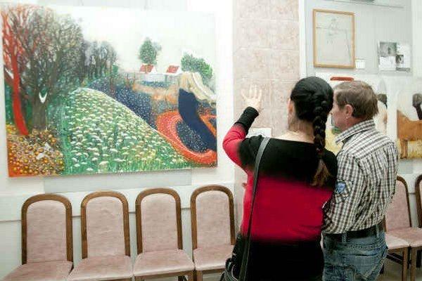 Výstava zahŕňa dvadsať diel. Obrazy s expresívnou farebnosťou striedajú pokojnejšie, meditatívne viac naladené diela.
