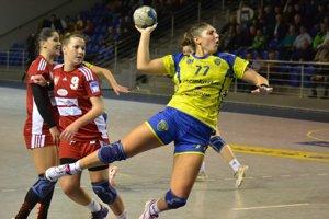 Ukrajinská reprezentantka Oľga Perederijová. Prvýkrát sa tešila zvíťazstva vo WHIL, teraz chce uspieť aj vslovenskom play-off.