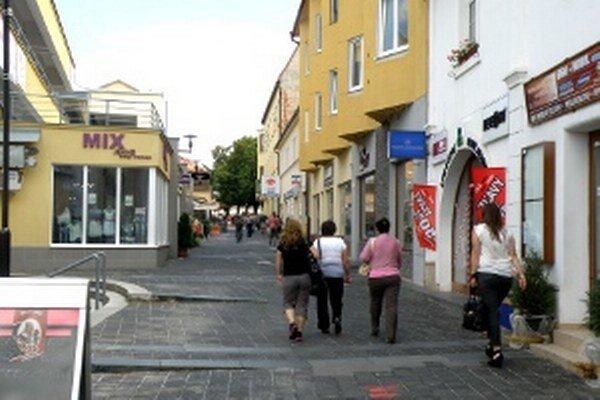 Moyzesova ulica v Prievidzi.