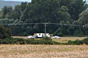 Geofyzici. Poľskí odborníci pracujú na pozemkoch spoločnosti Prorogo,  kde je nálezisko kamennej soli.