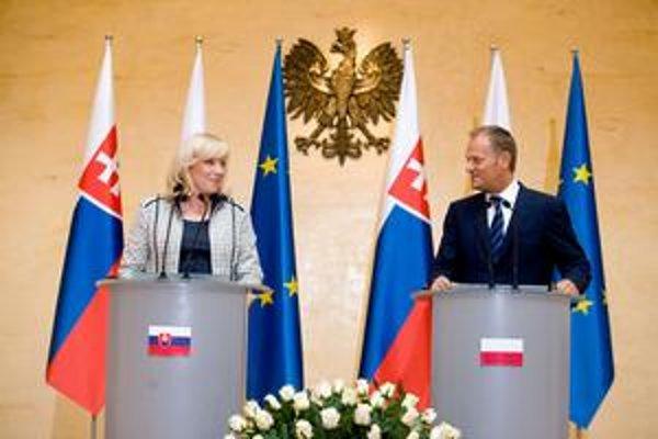 Iveta Radičová má poľské korene. S premiérom Donaldom Tuskom si porozumeli.