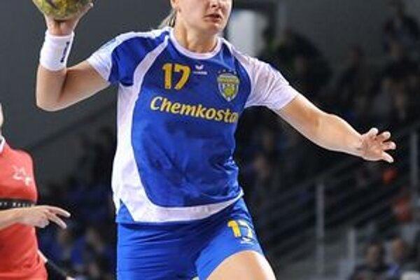 Dominika Horňáková. V Zlíne strelila dva góly, na body však nestačili.