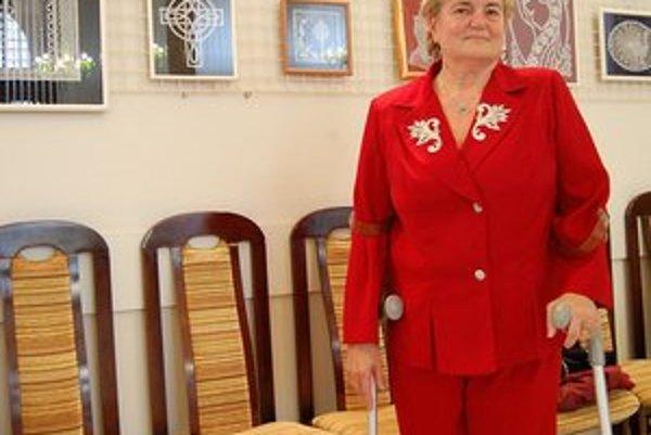 Helena Kočišková. Paličkovaná čipka jej učarovala.
