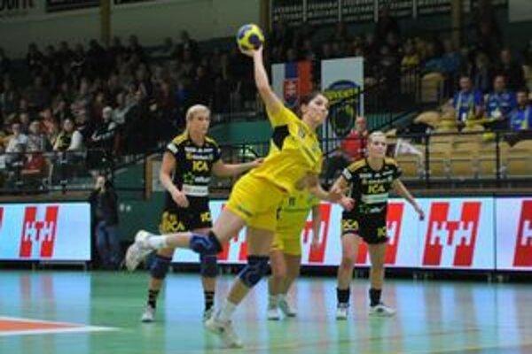Kanonierka Iuventy Lucia Tobiašová. Sävehofu strelila v dvoch zápasoch 10 gólov.