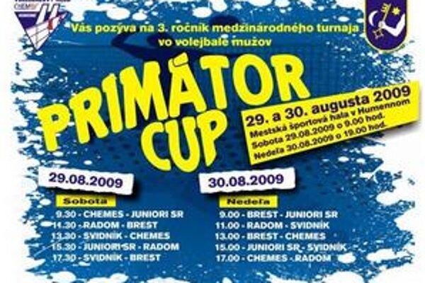 Primátor cup. Termíny i časy platia. Juniorov SR nahradí pravdepodobne extralista.