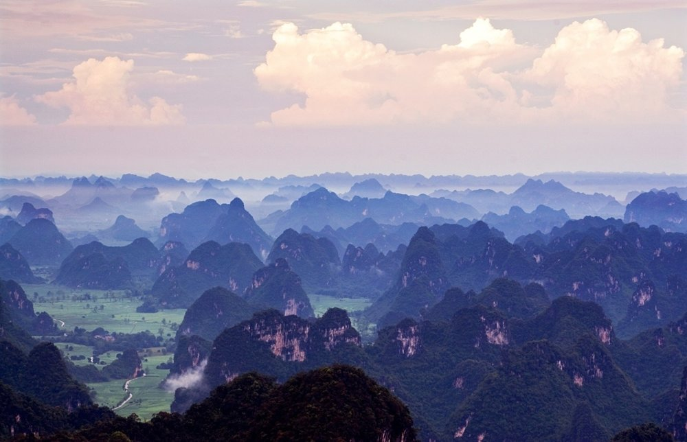 Oblasť rieky Cuo-ťiang, Čína
