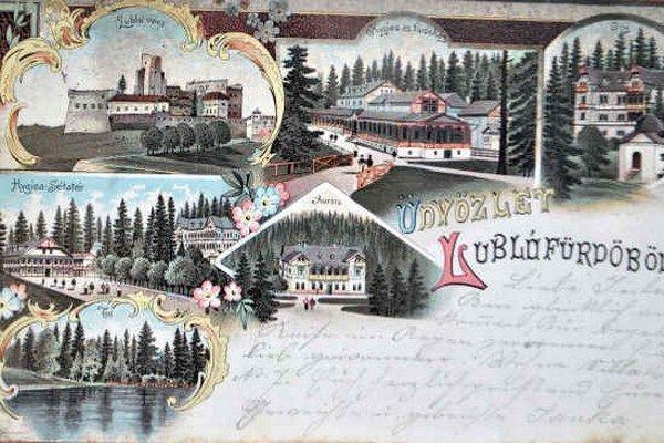 Ľubovnianske kúpele. Objavovali sa aj na pohľadniciach.