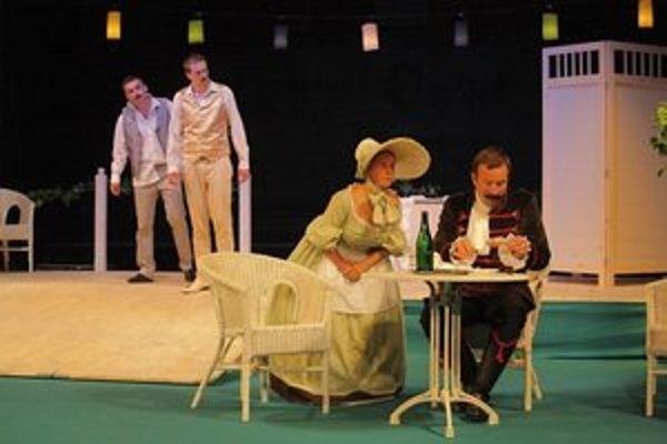 Zmierenie alebo dobrodružstvo pri obžinkoch. Inscenácia veselohry J. Palárika sa teší diváckej obľube spišského publika.