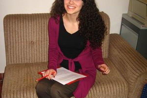 Daniela Ivanková (18). Maturantka sa teší, že konečne spĺňa vekový limit na prácu lektorky.