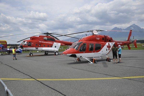 Chlapčeka prevážali leteckí záchranári.