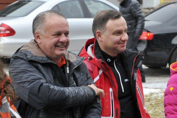 Kiska a Duda si v Tatrách užili aj lyžovačku.