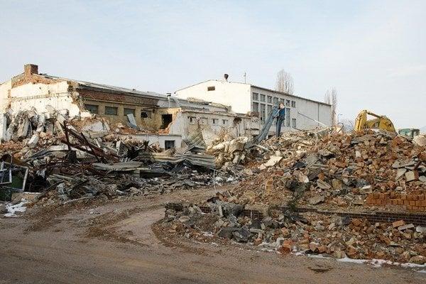 Areál pivovaru v Poprade zbúrali už v roku 2013.